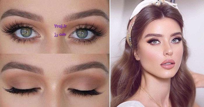 مدل آرایش چشم ساده