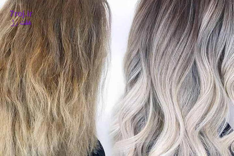 چگونگی استفاده تونر بعد از دکلره کردن و یا رنگ کردن موها