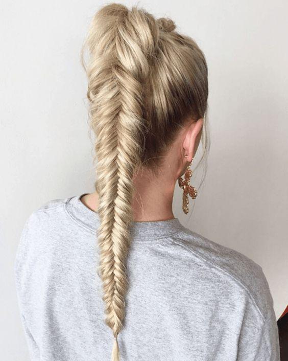 آموزش تصویری بافت موی سبک تیغ ماهی