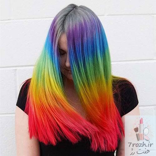 34 مدل رنگ مو رنگین کمانی