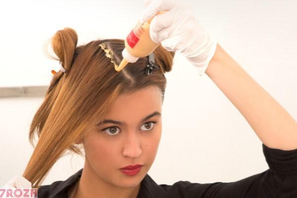 آموزش تصویری رنگ کردن موها