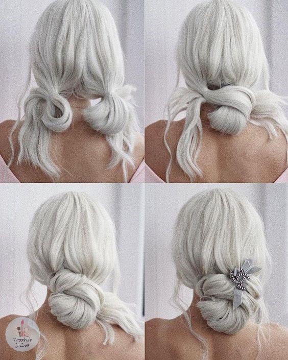 10 مدل شینیون موی فوق العاده