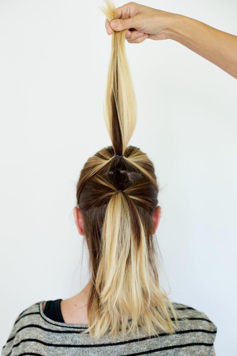 آموزش مدل شینیون مو همراه با بافت