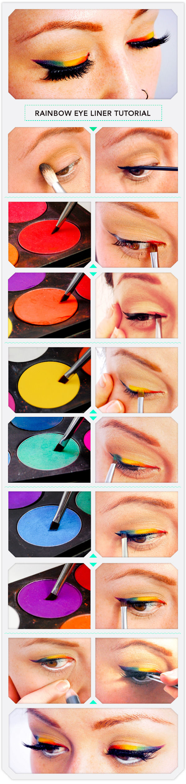 آموزش خط چشم رنگین کمانی